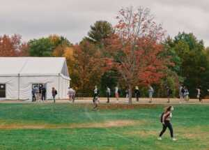 Colby College, which has about 2,000 students living on its rural Waterville, Maine, campus, tests each student before and after arrival on campus, then twice weekly thereafter.