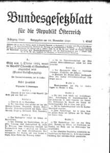 100 Year Anniversary of the Austrian Constitution