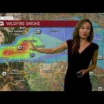 Gusty winds Thursday; Wildfire smoke visible on radar
