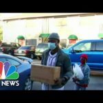 Americans In Need Form Long Lines At Nation's Food Banks   NBC Nightly News