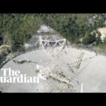 Drone footage shows giant Arecibo Observatory collapsing in Puerto Rico