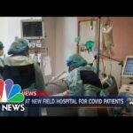 Massachusetts Field Hospital Begins To Receive Covid Patients | NBC Nightly News