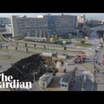 Drone footage shows huge sinkhole in Naples hospital car park